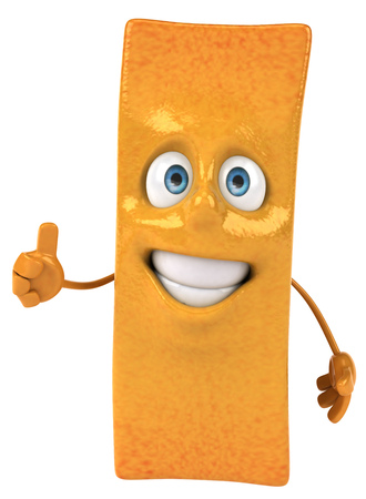 Cartoon fries showing thumbs up