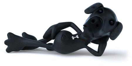 Cartoon dog relaxing