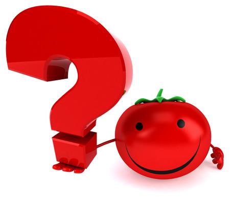 restaurant questions: Fun tomato Stock Photo