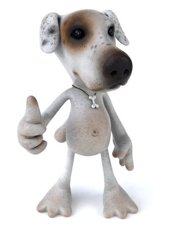 Cartoon dog showing thumbs up
