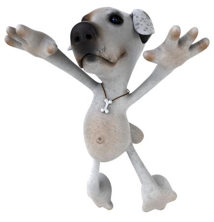 Cartoon dog is jumping Banco de Imagens