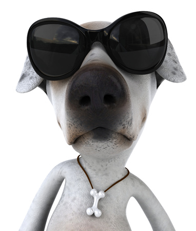 Cartoon dog with sunglasses