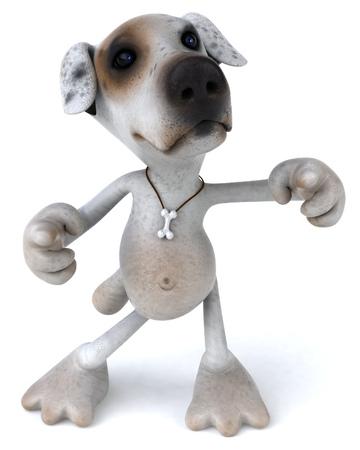 Cartoon dog is dancing Banco de Imagens