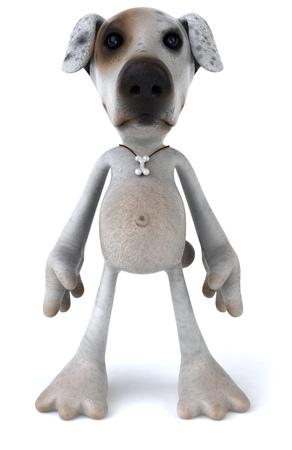 Cartoon dog standing Banco de Imagens