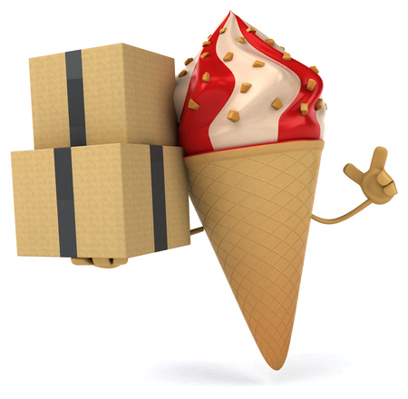 summer diet: Ice cream Stock Photo