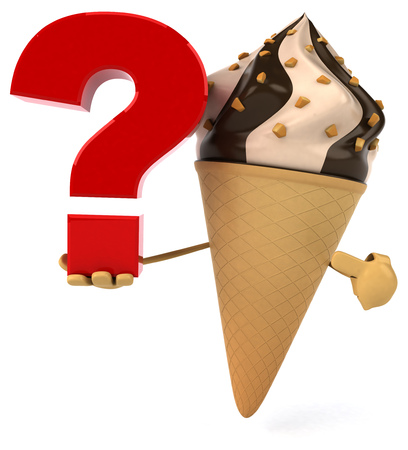eating questions: Ice cream Stock Photo