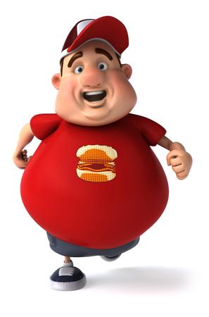 Fat man character