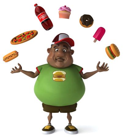 fatness: Overweight guy