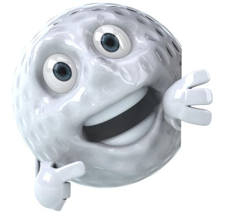 Golf ball character
