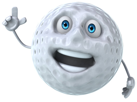 Golf ball character