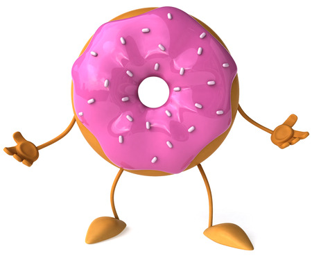 legs up: Donut character