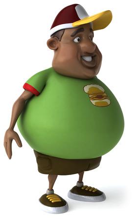 Personnage de Fat Man Banque d'images - 83149603