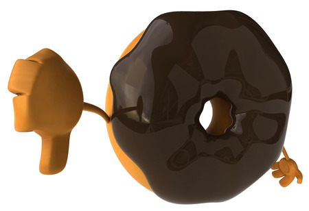 Donut character gesturing thumbs down