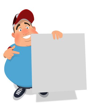 waist weight: Overweight guy