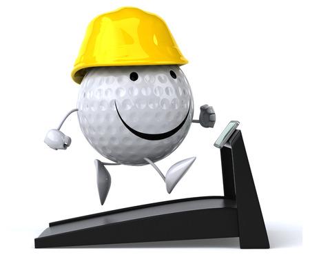 arquitecto caricatura: Golf  Foto de archivo