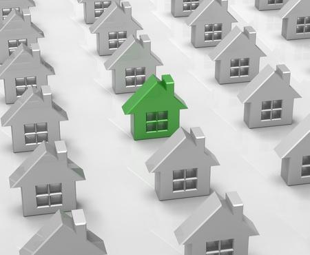 prospects: Houses Stock Photo