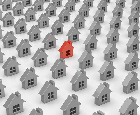 prospect: Houses Stock Photo