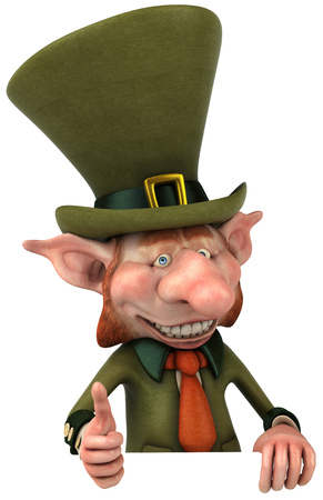 cheeky: Leprechaun character