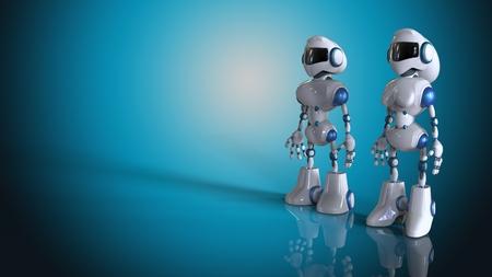 chrome man: Robots