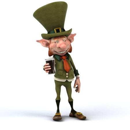 legends folklore: Irish leprechaun Stock Photo