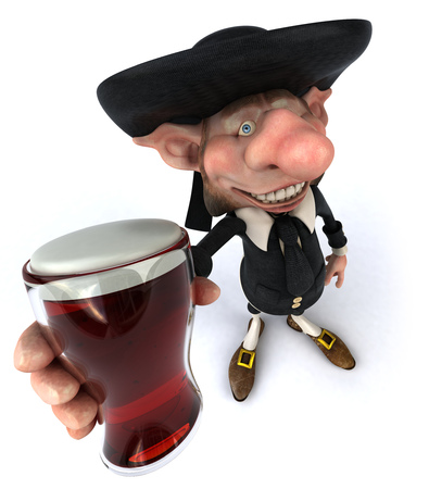 Korrigan character holding a glass of beer