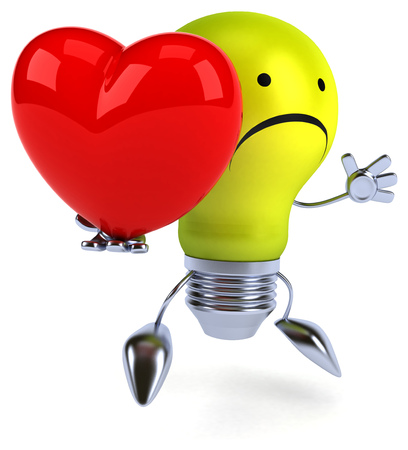 heart intelligence: Fun light bulb
