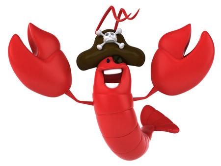 Zeekreeft die piratenhoed draagt