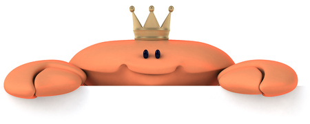 Crab wearing crown Stock Photo