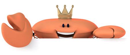 Crab wearing crown Stock Photo