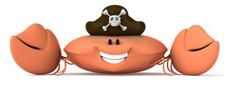 omnivorous: Crab wearing pirates hat