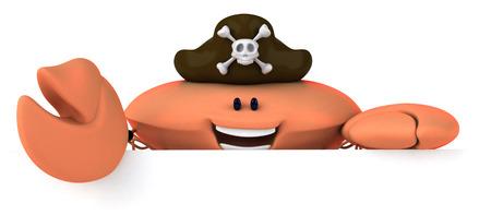 Crab wearing pirates hat