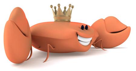 omnivorous: Crab wearing crown Stock Photo