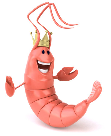Shrimp with crown Stock Photo