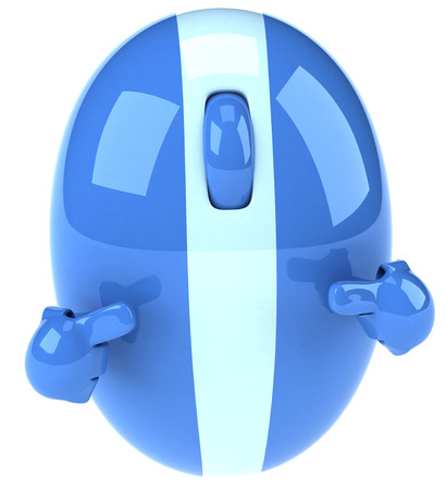 3D mouse character pointing at itself Stock fotó