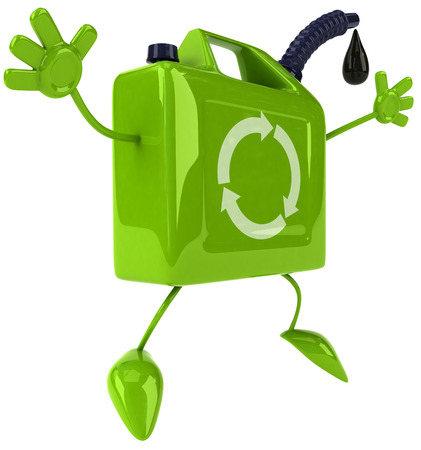 3D jerry can character posing