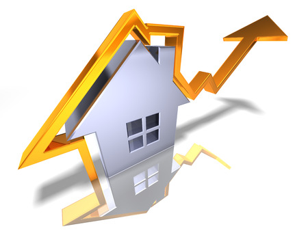 3D property price hike concept