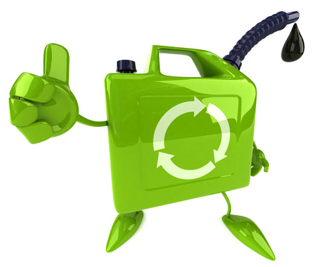 3D jerry can character showing thumbs up gesture