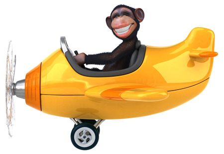 aerial animal: Fun monkey