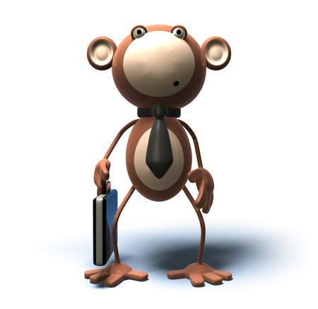Cartoon monkey with business attire