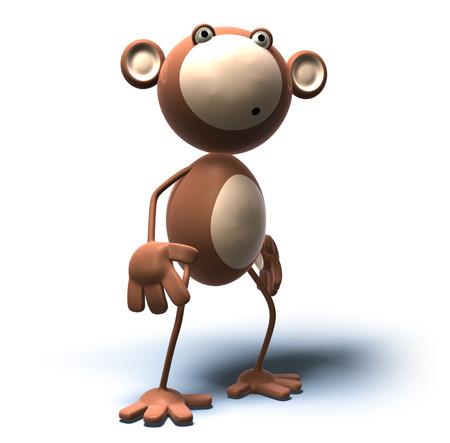 Cartoon monkey standing