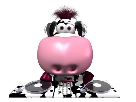 Cartoon DJ cow