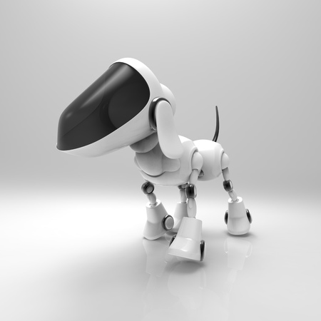 Dog robot Stock Photo