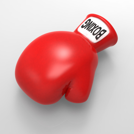 knock out: Boxing Stock Photo