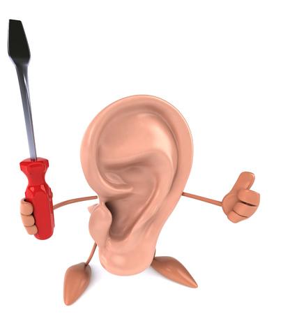 Fun ear Stock Photo