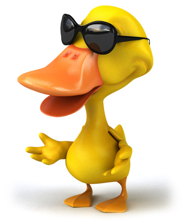 Duck character with shades