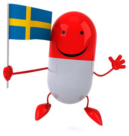 bandera de suecia: píldora de la diversión