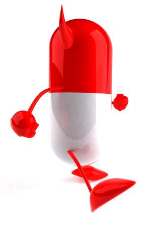 Devil medicine pill character