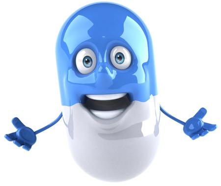 Medicine pill character