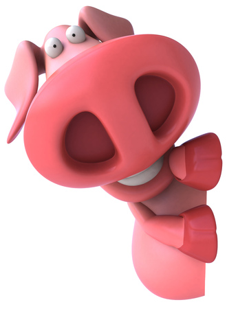 Pig character Stock Photo