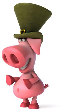 greed: Fun pig Stock Photo